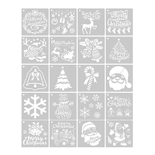 yubin Szablony na Boże Narodzenie, wielokrotnego użytku, rysunek lub natryskiwanie, kultura rzemiosła artystycznego z dzwoneczkami bożonarodzeniowymi i wiśnią