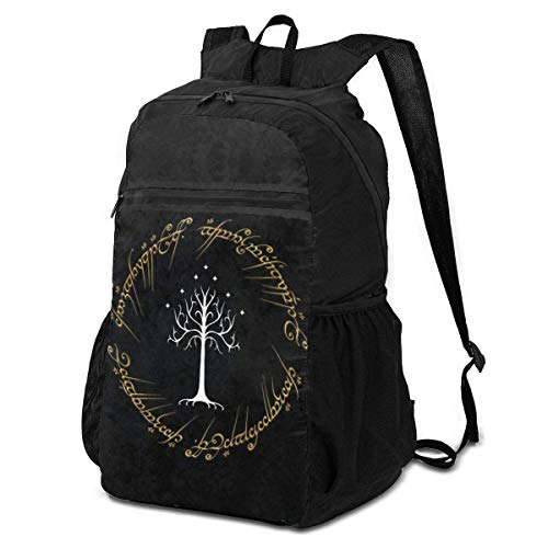 Action Figures Lord Rings Folding Backpack Lightweight Packable Backpacks Multipurpose Handy Foldable Camping Beach Outdoor knapsack Pack for Waterproof for Men Women Travel Hiking Daypack
