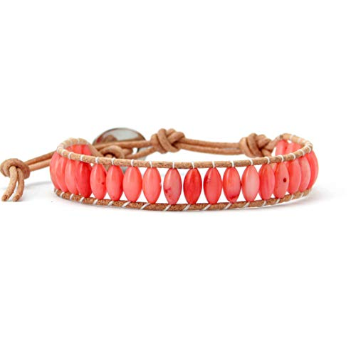 WHFDRHSZ Armband Armreifen Form Coral Stone Armband Modisches Wickelarmband Korallenschmuck