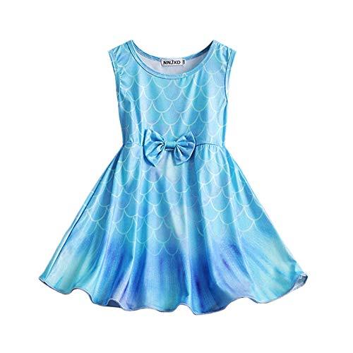 Vestido de sirena para bebé, sin mangas, teñido con lazo, para boda, fiesta de cumpleaños, vestidos de princesa