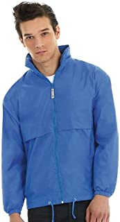 B&C New Air Windbreaker Lightweight Jacket Full Zip Mens Waterproof Coat