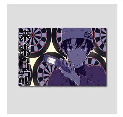 H/T Canvas Nordic Pictures Anime Future Diary Future Nikki Wall Painter Home Decoration Painting Printing Poster Living RoomFrameless50x70cm R4168