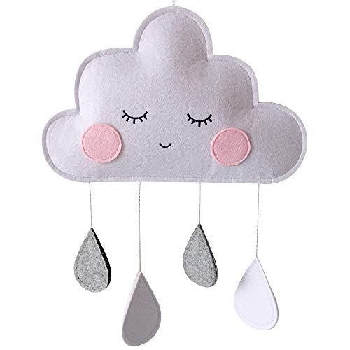 Regentropfen-Anhänger Nordischer Wind Kinderzimmer Krippe Dekoration Kinderzimmer Filz Wolke Regentropfen Anhänger Hängende Ornament
