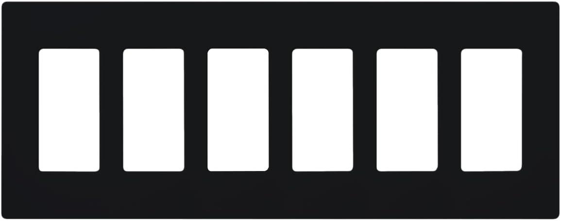 Lutron CW-6-BL Claro Wallplate Black 6-Gang Max Selling 80% OFF