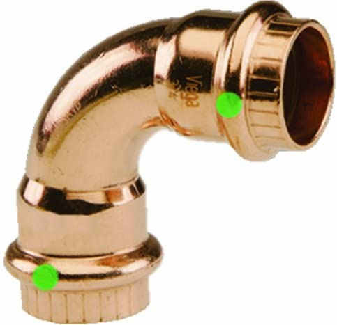 2021 Viega new arrival 77317 ProPress Zero Lead Copper 90-Degree Elbow with 1/2-Inch P x new arrival P, 10-Pack outlet online sale