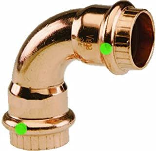 Viega 77322 ProPress Zero Lead Copper 90-Degree Elbow with 3/4-Inch P x P, 10-Pack