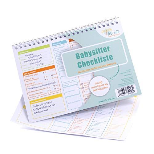 Babysitter Checkliste - Aufgaben-Liste zum Ankreuzen und Abhaken für Babysitter, Tagesmutter, Au-Pair (Abreiß-Block 50 Blatt DIN A5)