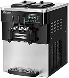 cheap COSTWAY commercial ice cream machine, automatic 2200 W, 20-28 l / 5.3-7.4 g / h, soft and hard …
