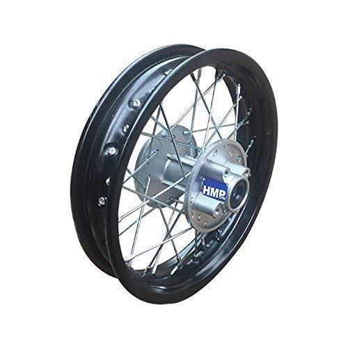 Llanta de acero para Motocicletas de Pit Dirt Bike/Motocross- 1.85 x 12 pulgadas =30 cm trasero Negro