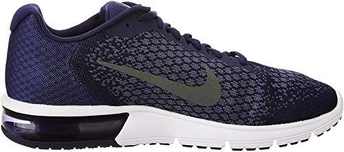 Nike Air MAX Sequent 2, Zapatillas de Deporte para Hombre, Multicolor (Binary Blue/Dark Grey/Dark Obsidian 406), 42 EU