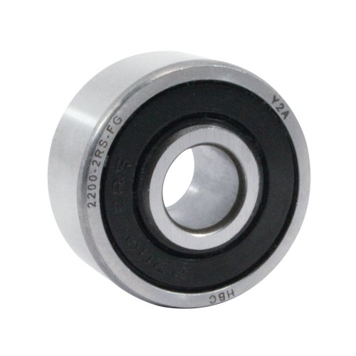 WJB 2200-2RS-FG Self Aligning Ball Bearing, ABEC-1, Double Sealed, Steel, Metric, 10mm Bore Diameter, 30mm Outer Diameter, 14mm Width, 360 lbs Static Load Capacity, 1640 lbs Dynamic Load Capacity