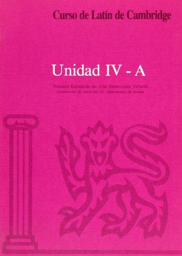 Curso de Latín de Cambridge Libro del Alumno Unidad IV-A: Versión española: 22.5 (Manuales Universitarios)