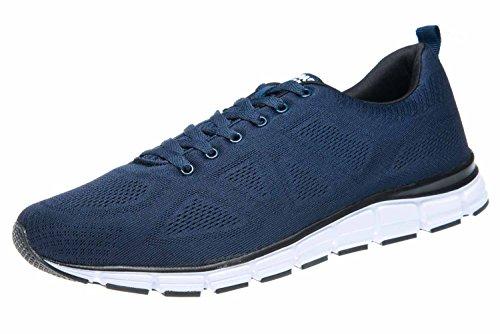Boras Fashion Sports Unisex Sneaker Basic niebieski/biały również w dużych rozmiarach 5203-0051, niebieski - niebieski - 48 EU