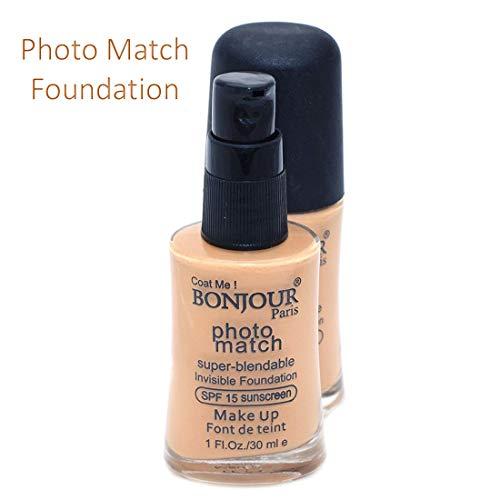 Bonjour Paris Foundation With Color Fever Foundation Brush, 30 Ml (Pack of 3)