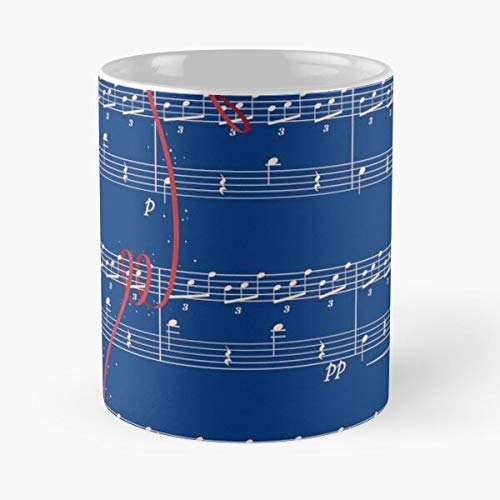 Na Ost Name No Music Piano Kimi Your Sparkle Radwimps Bso WA Best Mug Tiene 11oz de Mano Hechas de cerámica de mármol Blanco