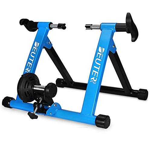 TYXTYX Magnetic Turbo Trainer - Entrenador de Bicicleta Plegable Soporte de Entrenamiento de Bicicleta MTB Ciclismo de Carretera Estación de Ejercicio de Bicicleta Entrenador de Bicicleta Plegable