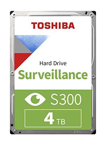 Toshiba S300 - Hard disk interno per HDD di sorveglianza da 4 TB (3,5 pollici SATA 6 Gbit/s 5400 RPM 128 MB di cache