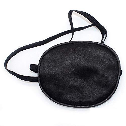 seide elastische Augenklappen, Piraten Augenblende Verstellbar Augenklappe,Kinder Augenblende für Amblyopia Faul Augenabdeckung Augen(Schwarz)