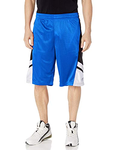Southpole Men's Big and Tall Basic Basketball Mesh Shorts, Royal, 4XB
