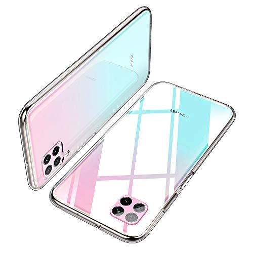 适用于Huawei P40 Lite护盖的iBetter Soft Slim TPU,防震透明硅胶套,适用于Huawei P40 Lite智能手机。
