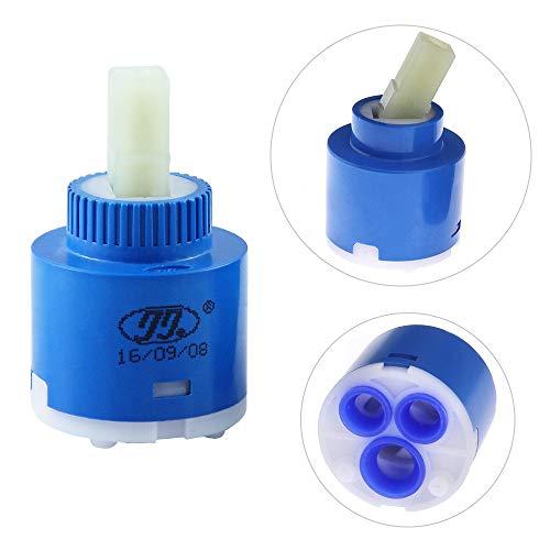 Cartucho de Cerámica Válvula de Grifo Monomando 35/40mm para Grifo Monomando de Baño, Lavabo, Ducha, Cerámica
