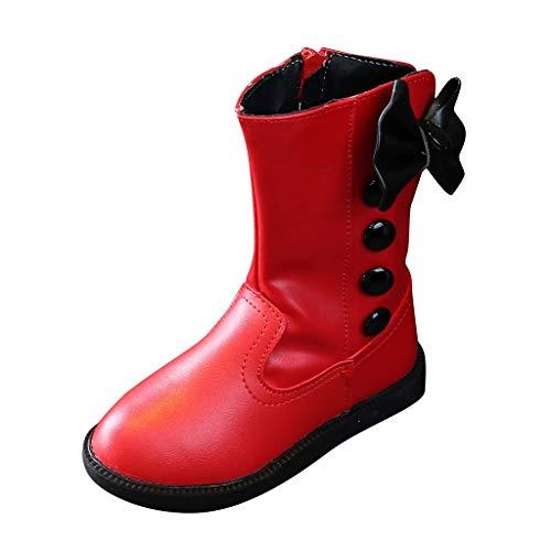 Luckycat Zapatillas de Niños Niña Bebé Botas de otoño e Invierno para niñas Botines Impermeables Niños Moda Niñas Zapatillas de Deporte Invierno Gruesa Nieve Bebé Zapatos Casuales Impermeables