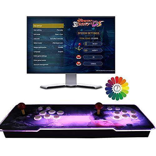 8000 Juegos clásicos Consola de Videojuegos, Pandora's Box 3D Arcade Game Console, Clasificación de Juegos Inteligentes, 2 Joystick HDMI y VGA y Salida USB