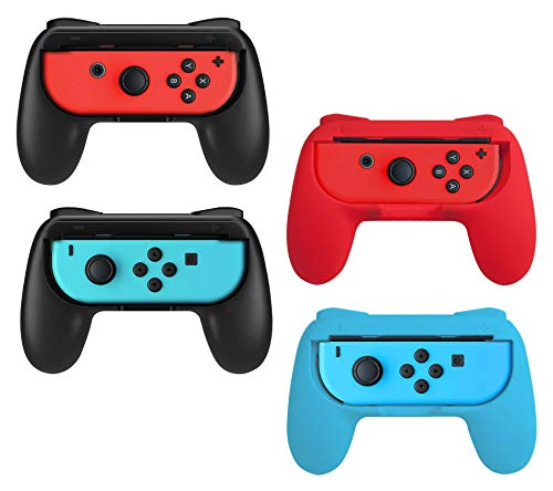 Beastron Joy Con Grips Compatible with Nintendo Switch, Handle Kit for Nintendo Game Switch Joy Con Controller 4 Pack (Matte Finish)