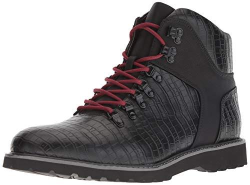 GUESS Men's Faxon Fashion Boot, Black, 8 M US
