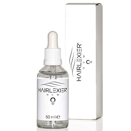 Hairlexier® das Haarserum unterstützt bei vorzeitigem Haarausfall bei Frauen & Männern sowie bei diffusem oder erblich bedingten Haarausfall, frei von Hormonen, Made in Germany, 50 ml