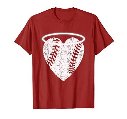 Vintage Angel Baseball Heart with Halo T-Shirt