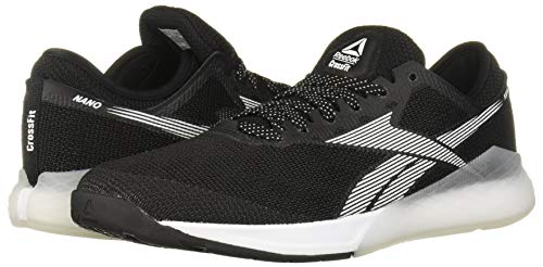 Reebok Men's Nano 9 Cross Trainer, Black/White, 10 M US