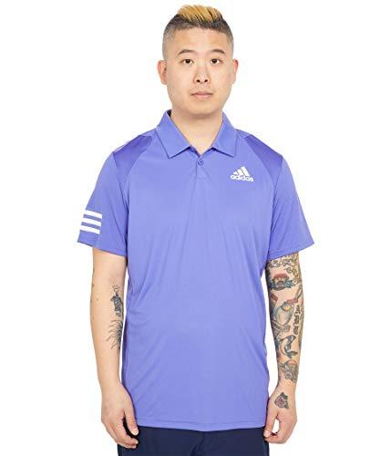 adidas mens Club 3-Stripes Tennis Polo Shirt Purple/White Medium
