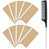 120 Pieces Hair Extension Tape Tabs Double Sided Adhesive Extension Replacement Tapes Strong No-Residue Adhesive Hair Extension Tape with Rat Tail Comb Stainless Steel Pintail Comb for Hair Extensions