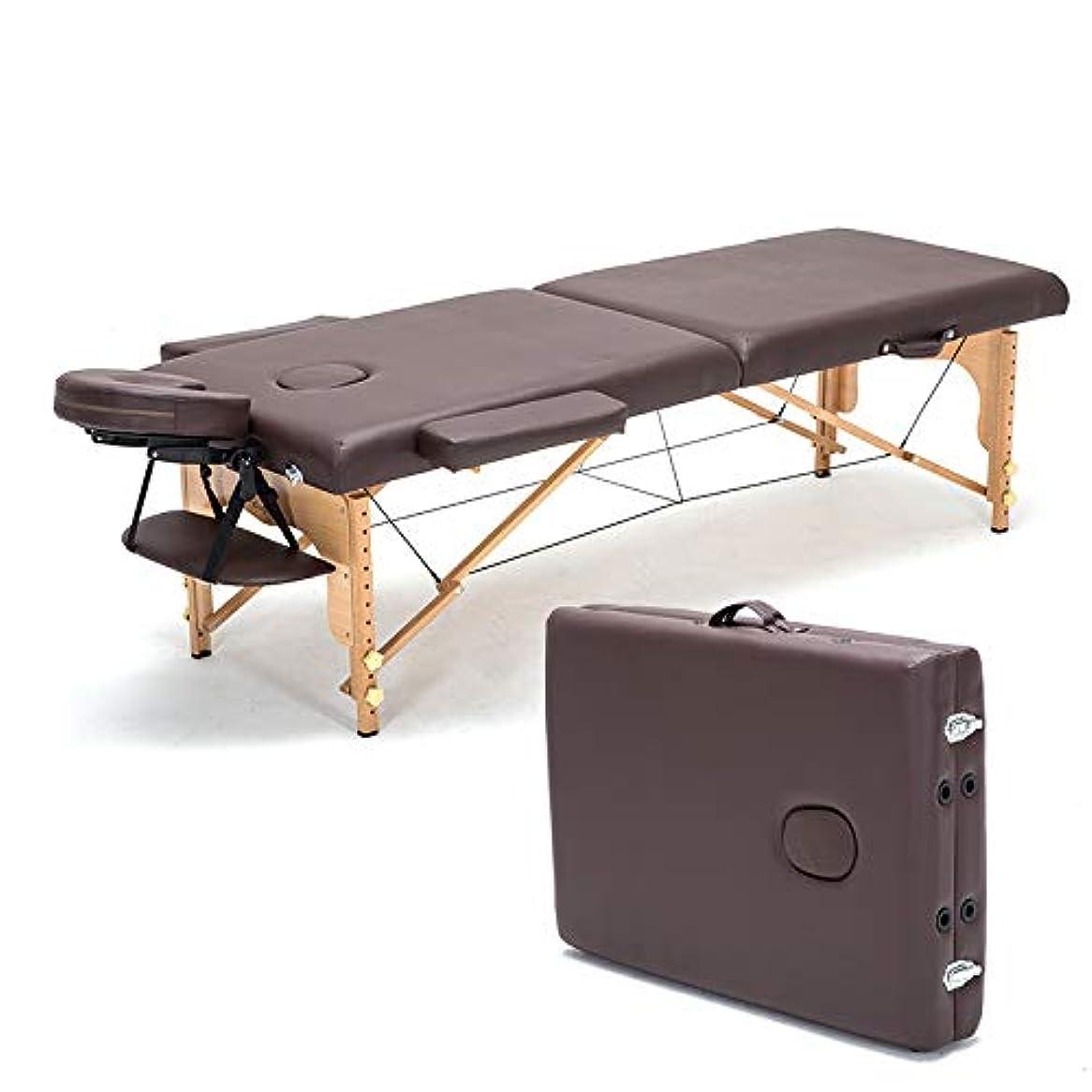 口述意識的伝染性60センチ幅プロフェッショナルスパマッサージテーブル折りたたみ式バッグ&枕&アームレストサロン家具木製折りたたみ美容ベッド