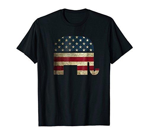 Patriotic Elephant Shirt American Flag USA Republican Party
