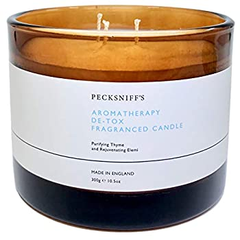 Pecksniffs England Aromatherapy Detox  DE-TOX  Scented Candle with Three Wicks