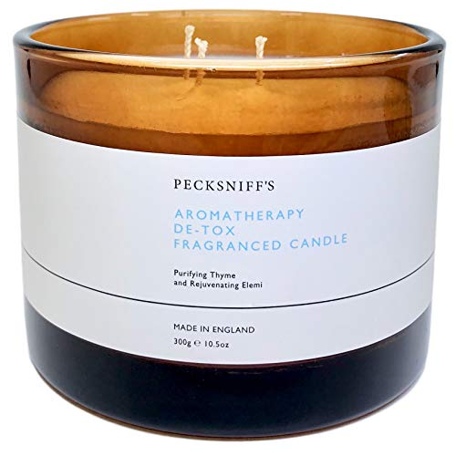 Pecksniffs England Aromatherapy Detox (DE-TOX) Scented Candle with Three Wicks