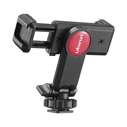 ULANZI Universal Phone Tripod Mount with Cold Shoe Mount, Rotates and Adjustable Clamp Holder Smartphone Clip Adapter for iPhone 11 Pro Max X XR Xs Max 8 7 Plus Samsung Galaxy s10 s9 Note10 Google