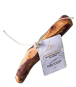 Hohe Qualität Made in Italy: hochwertiges und absolut naturbelassenes Olivenholz, handgearbeitet. Sein angenehmes Aroma kommt aus der Endbehandlung der Verarbeitung, in der das Holz in Olivenöl eingetaucht wird. Sicher: Ihr Hund wird beim Spielen mit...