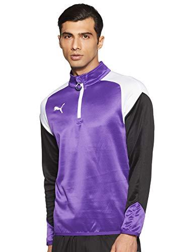Camiseta de Hombre Esito 4 con Cremallera 1/4 de Puma, Hombre, Color Prism Violet-puma White-Ebony, tamaño Small