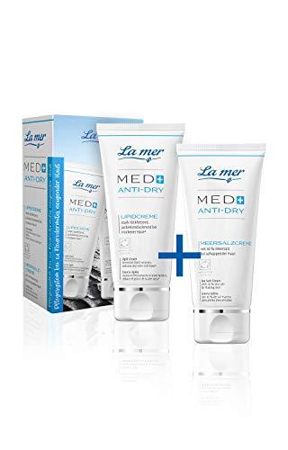 La mer Med+ Anti-Dry Lipidcreme & Meersalzcreme ohne Parfum jeweils 50 ml