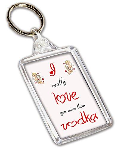 I love Wodka Mottoparty Schlüsselbund–Valentinstag/Jahrestag/Geburtstag Geschenk für