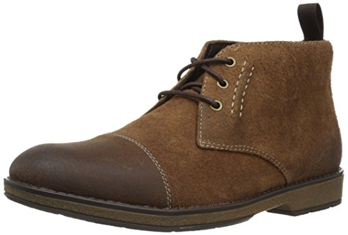 Clarks Men's Hinman Mid Chukka Boot, Dark Tan Suede, 7 M US