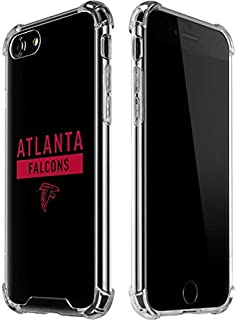 Skinit Clear Phone Case for iPhone 7 - Officially Licensed NFL Atlanta Falcons Black Performance Series Design