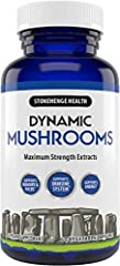 ✔ HIGH POTENCY NON-GMO MUSHROOMS: Contains 5 of the most beneficial mushrooms in Potent EXTRACT forms: Lion's Mane, Reishi, Chaga, Maitake, & Shiitake rich in BETA-GLUCANS. ✔100% FRUITING BODIES & EXTRACTS: Superior Absorption Power Using Highly Conc...