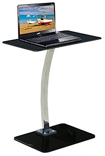 Generic Porta Laptoptisch für Black and Side oder Lapt Premier Glas- und Seiten-Laptops, Metall, Schwarz