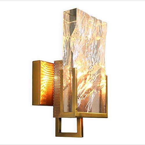 XAJGW Applique murale en cristal 1Light Square, fini chrome et cristal clair, conforme à l'ADA, 11,8\