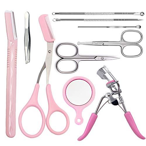Augenbraue Tool Set Make-up Pflege-Kit, Kalolary 10 in 1 Augenbraue Gestaltung Set Schere...