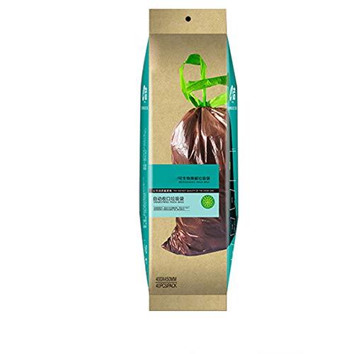 KKmoon - 40 bolsas de basura degradables con cordón, bolsas de basura de plástico, ecológicas, biodegradables para uso doméstico